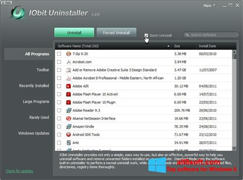 Skjermbilde IObit Uninstaller Windows 8