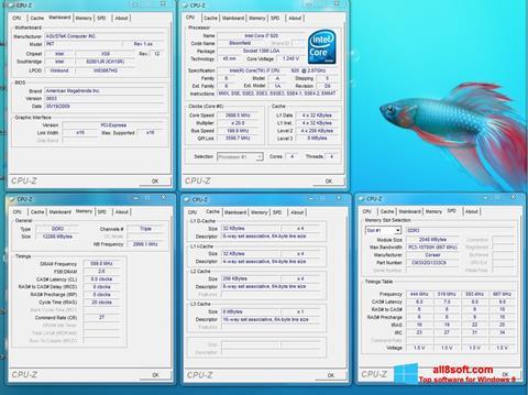 Skjermbilde CPU-Z Windows 8