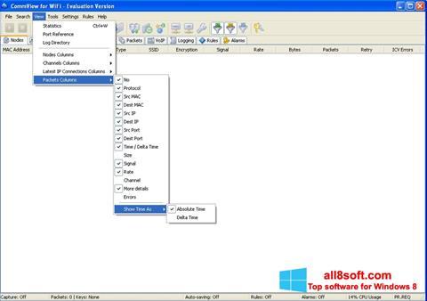 Skjermbilde CommView for WiFi Windows 8