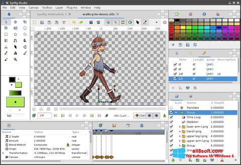 Skjermbilde Synfig Studio Windows 8