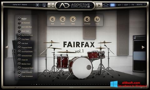 Skjermbilde Addictive Drums Windows 8