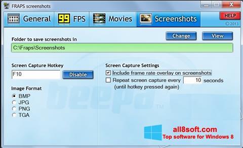 Skjermbilde Fraps Windows 8