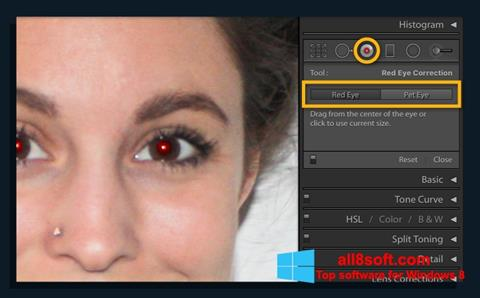 Skjermbilde Red Eye Remover Windows 8