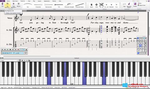 Skjermbilde Sibelius Windows 8