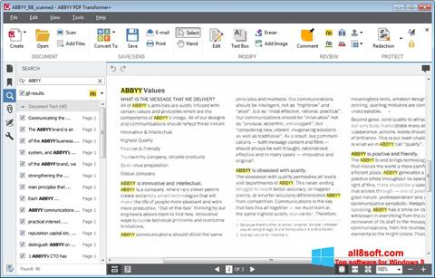 Skjermbilde ABBYY PDF Transformer Windows 8