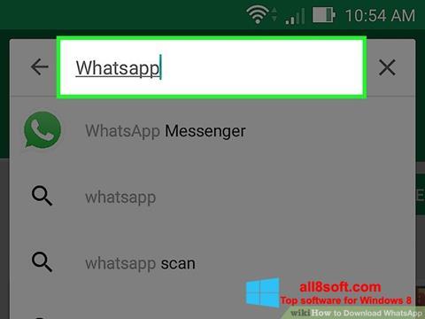 Skjermbilde WhatsApp Windows 8
