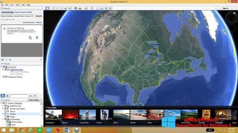Skjermbilde Google Earth Windows 8