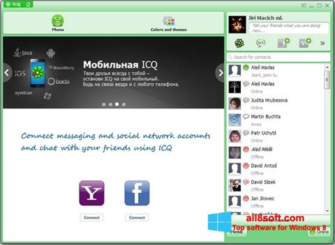 Skjermbilde ICQ Windows 8