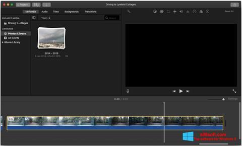 Skjermbilde iMovie Windows 8