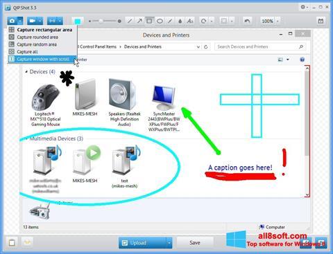 Skjermbilde QIP Shot Windows 8