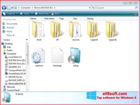 Skjermbilde Windows 7 USB DVD Download Tool Windows 8