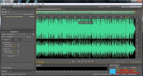 Skjermbilde Adobe Audition Windows 8