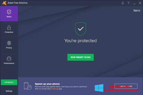 Skjermbilde Avast Free Antivirus Windows 8