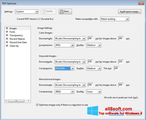 Skjermbilde Adobe Acrobat Pro DC Windows 8