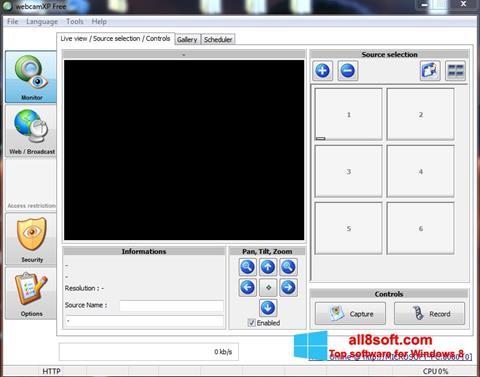 Skjermbilde webcamXP Windows 8