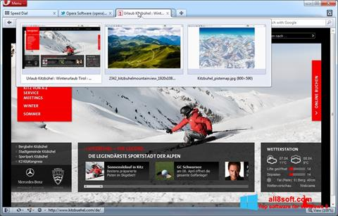 Skjermbilde Opera Windows 8