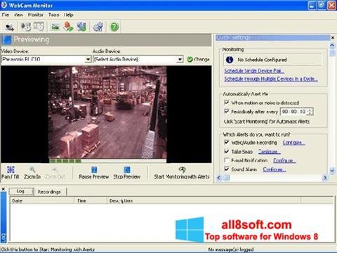 Skjermbilde WebCam Monitor Windows 8