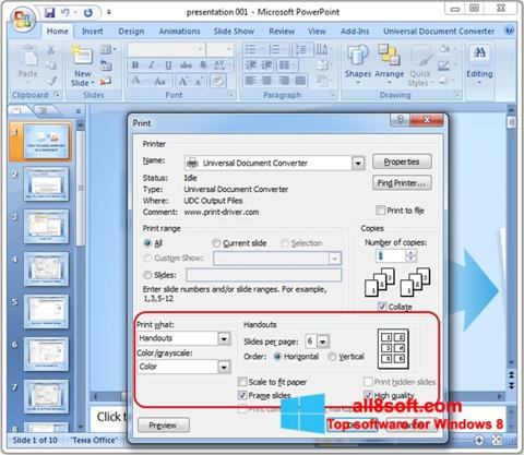 Skjermbilde Microsoft PowerPoint Windows 8