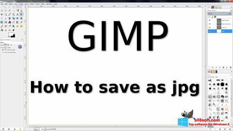 Skjermbilde GIMP Windows 8