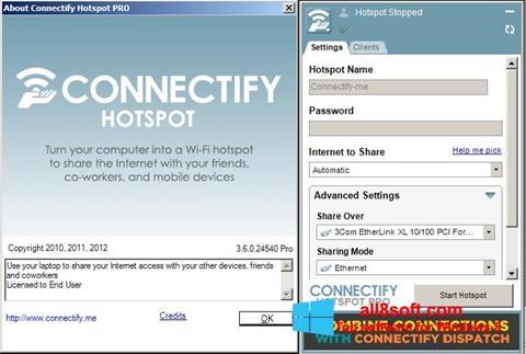 Skjermbilde Connectify Pro Windows 8