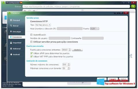 Skjermbilde MediaGet Windows 8