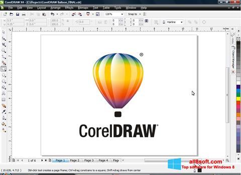 Skjermbilde CorelDRAW Windows 8