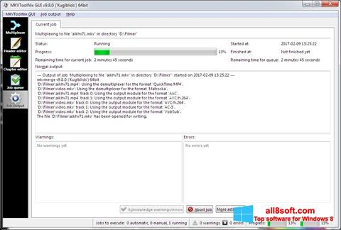 Skjermbilde MKVToolnix Windows 8