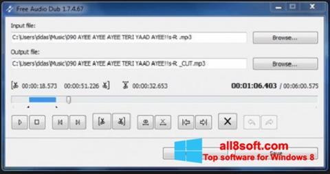 Skjermbilde Free Audio Dub Windows 8