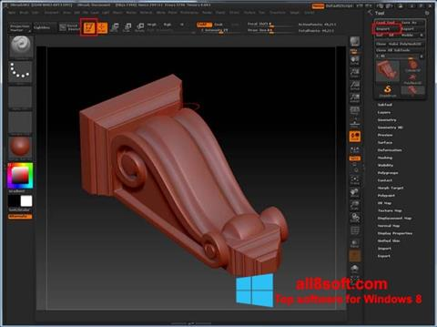 Skjermbilde ZBrush Windows 8