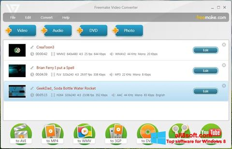 Skjermbilde Freemake Video Converter Windows 8