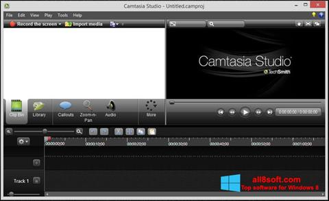 Skjermbilde Camtasia Studio Windows 8