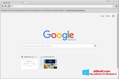 Skjermbilde Google Chrome Windows 8
