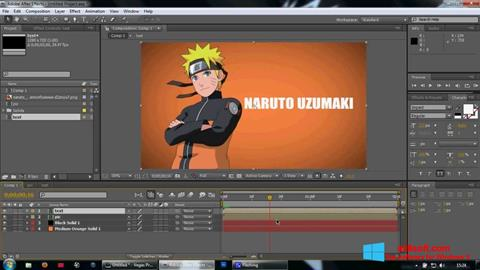 Skjermbilde Adobe After Effects Windows 8