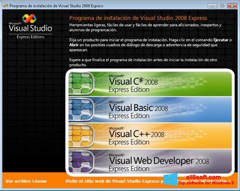 Skjermbilde Microsoft Visual Studio Windows 8