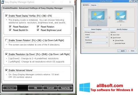 Skjermbilde Easy Display Manager Windows 8